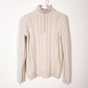 Croft Barrow Chunky Fisherman Cable Knit Sweater M